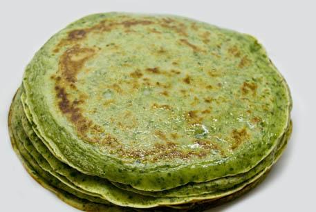 Блинчики с зеленью рецепт с фото пошагово
