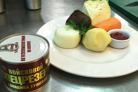 Ингредиенты для классического борща с говядиной
