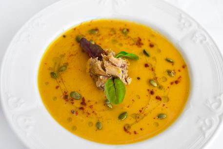 Куриный крем-суп из тыквы с цыпленком Царская курочка