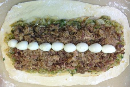 Кулебяка с капустой и говядиной тушеной рецепт от шеф-повара