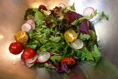 Рецепт салата с говядиной и кабачками гриль