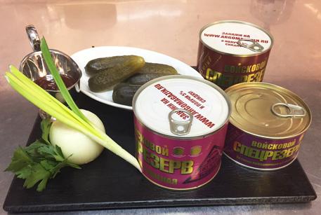 Ингредиенты для солянки сборной мясной