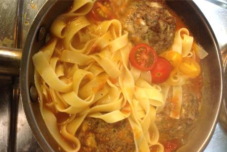Пошаговый рецепт с фото Тефтели из говядины с фетучини