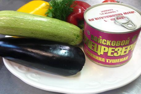 Купить тушенку из свинины для запеканки из овощей