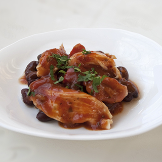 Блюдо из филе индейки в духовке с овощами